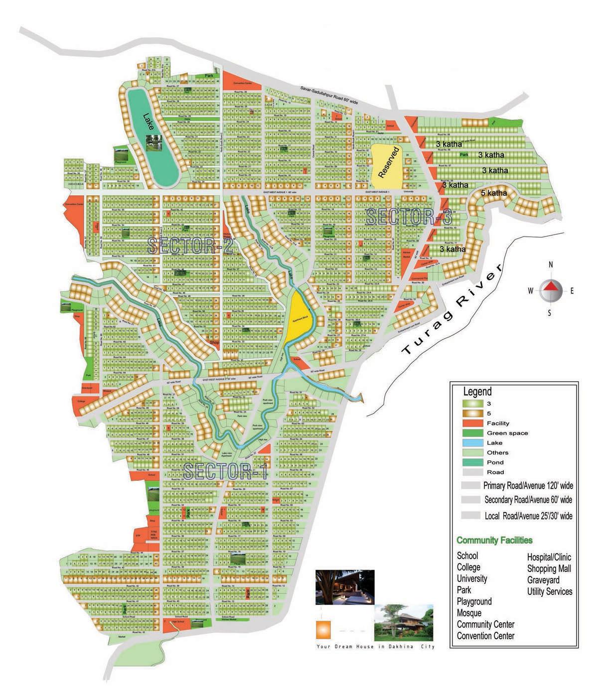 Dakhina City Plan Layout Dakhina Real Estate Ltd